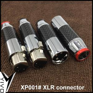 Image 5 - 2 pairs/4pairs female male 3 pins Carbon Fiber Brass plated rhodium Gold XLR plug connector