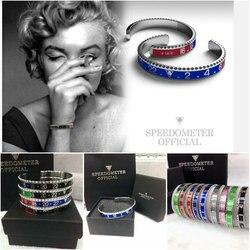 2020 dial aço velocímetro pulseiras & pulseiras bracciale uomo aço inoxidável pulseiras manguito pulseira moldura pulseiras bijoux