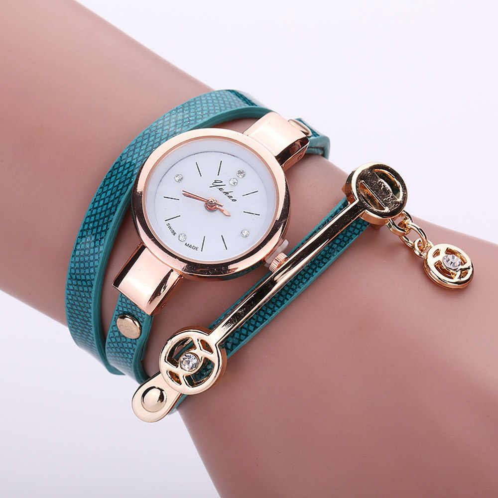 Moda damska bransoletki z zegarkiem sukienka damska zegar Casual proste analogowe zegarki kwarcowe Relogios Feminino prezenty Drop Shipping