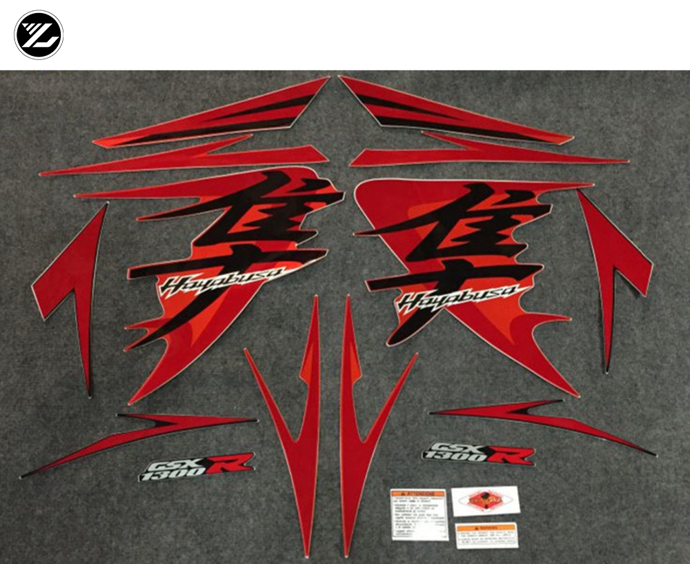 Motorcycle Whole Vehicle <font><b>stickers</b></font> and decals DIY MOTO for <font><b>Suzuki</b></font> GSXR1300 GSXR 1300 GSX R 1300 Hayabusa 2008-2012 Label <font><b>stickers</b></font> image