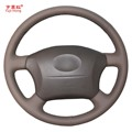 Yuji-Hong чехлы на рулевое колесо для Toyota Prado 2004-2006 Land Cruiser 2006 LC120 ручной работы верхний слой из коровьей кожи
