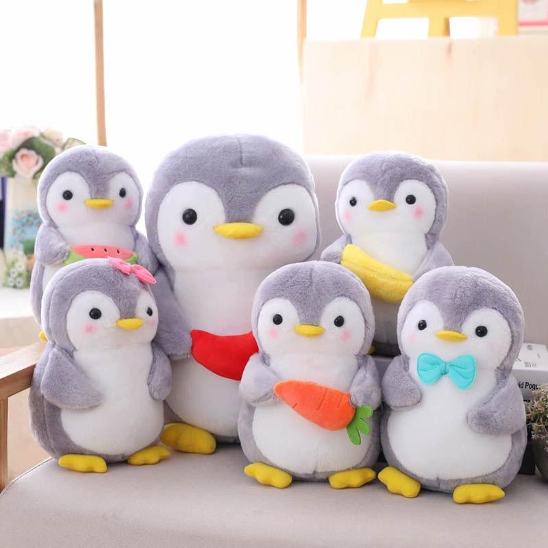 Yeaknow Penguin Plush Toy 25cm 35cm Creative Fruit Couple Penguin Stuffed Toys Kawaii Soft Cute Plush Doll Kids Toy Home Decor