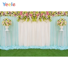 Yeele Wedding Ceremony Lawn Flowers Balls Curtain Photography Backdrops Personalized Photographic Backgrounds For Photo Studio
