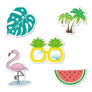 Image 1 - 5 шт. виниловые наклейки на машину, эстетичные летние наклейки в упаковке с фламинго, наклейки для ноутбука, Ipad, автомобиля, багажа, бутылки для воды, шлема, грузовика