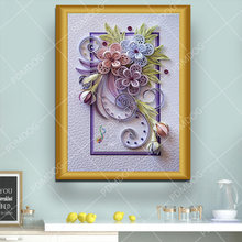 Алмазная картина в особой форме зимнее Цветочное дерево рукоделие