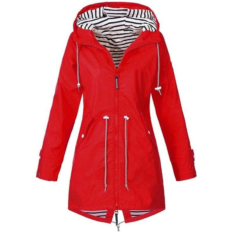 Women Jacket Coat Waterproof Windproof Transition Hooded Jackets Outdoor Hiking Clothes Outerwear Women s Lightweight Raincoat Innrech Market.com