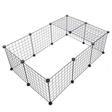 Collapsible Pet Baby Fence Iron Fence Puppy Kennel Sports Training Puppy Kitten Space Dog Supplies Rabbit Guinea Pig Cage WF