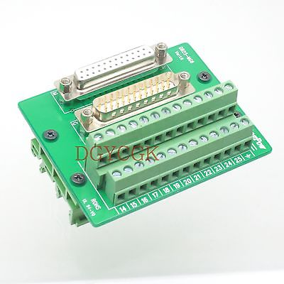 DHL/EMS 10 Sets DB25 D-SUB Male Female Adapter Connector Header Terminal Breakout Rail DIN 35mm  -h2