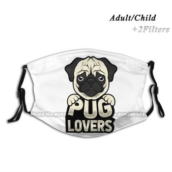 Pugs Lover - Cool Pug Shirt Washable Reusable Trendy Mouth Face Mask With Filters For Child Adult Dog Dogs Animal Cute Funn - discount item  57% OFF Mask