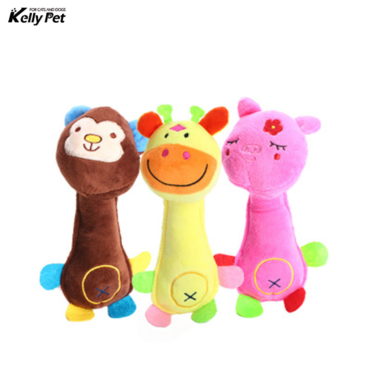 Animal chew toy dog toys cat vocalization in cloth dolls toy Monkey pig deer pet toys accessories products high quality in Dog Toys from Home Garden