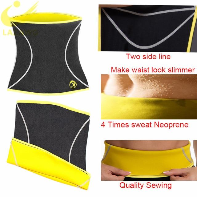 LAZAWG Women Waist Trainer Hot Neoprene Gym Workout Belt Sauna Sweat Girdle Body Shaper Tummy Control Fat Burn Corset Cincher 1