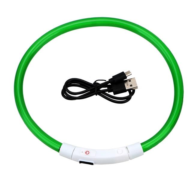 LED USB Luminous Night Safety Rechargable Dog Collar   2
