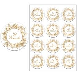 24/48pcs EID Mubarak Decor Stickers Ramadan Mubarak Decoration Islam Muslim Festival Favor Gifts Labels HAJJ Ramadan Kareem