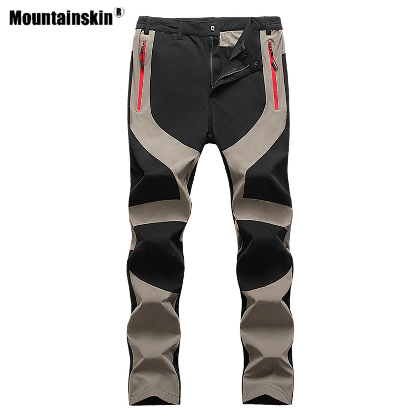Mountainskin Men's Elastic Force Hiking Pants Outdoor Sport Man Climbing Camping Trekking Fishing Male Breathable Trousers VA681