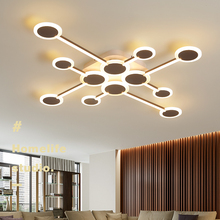 Nordic lamp Creative LED Ceiling Lights New Design Brown led Lamp For Living Room Bedroom Led Ceiling Lamp Home Decor Luminaire hot sale fashion design of kids room lamp nordic dome light one heads ceiling lights for home decor free shipping