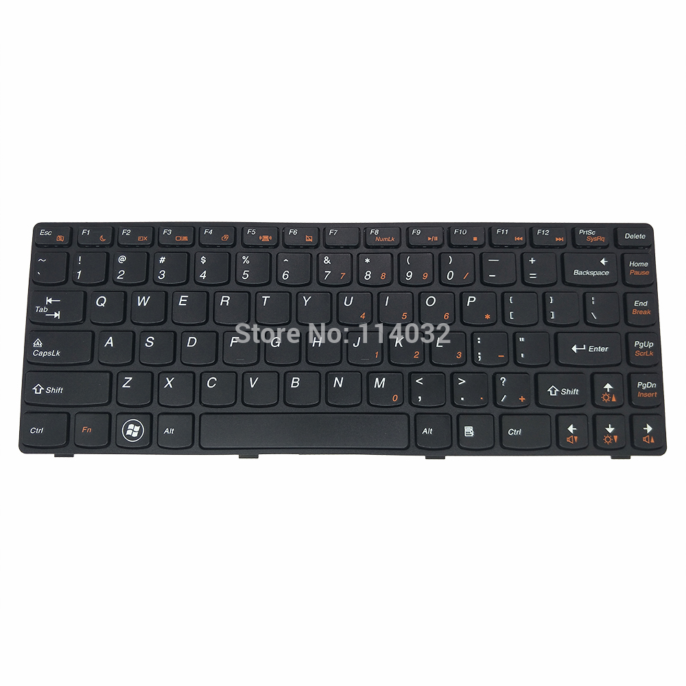 <font><b>keyboard</b></font> English for <font><b>lenovo</b></font> G480 Z380 G405G <font><b>G410</b></font> G490 G400 G405 <font><b>G410</b></font> US layout black with frame <font><b>keyboards</b></font> Screw Post 25-0161102 image