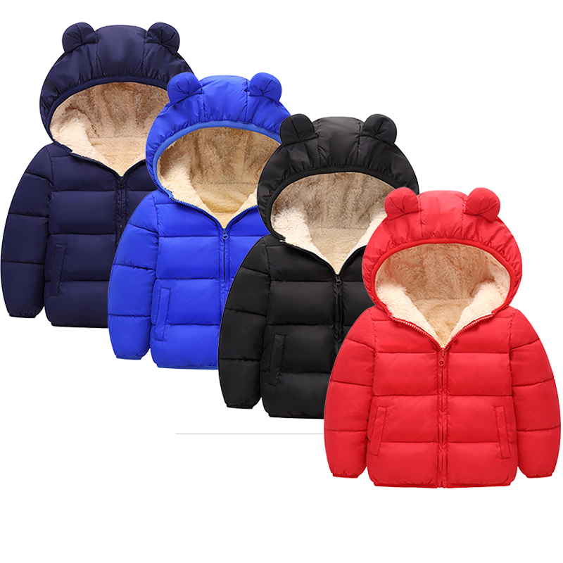 Boys Clothes Jackets Coat Winter Autumn Jackets Children's Clothing Hooded Windproof  Windbreaker Warm Clothes Toddler Boys