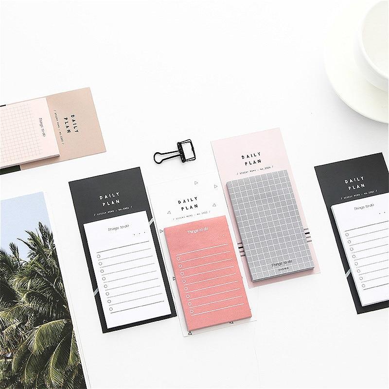 50 folhas planejador adesivos bloco de memorando breve diário notebook coisas a fazer lista agendada útil escritório escola memorando leitura novo