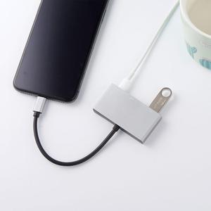Image 2 - Cable adaptador hembra de doble puerto USB con interfaz de alimentación de 8 pines, sincronización de carga, transferencia de datos para iOS 9 A 12, iPhone, iPad Mini