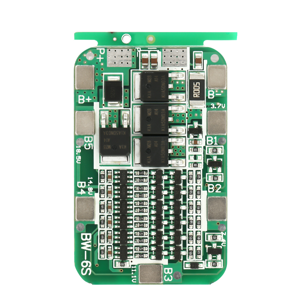 Protection Board 6S 15A 22V 24V Battery Protection Board BMS Battery Protection Boards For 18650 Lithium Batteries