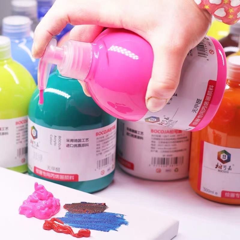 500ML / Bottle Acrylic Paint Pigment Hand-Painted Wall Paint Artist Draw Painting Pigment 24 Colors
