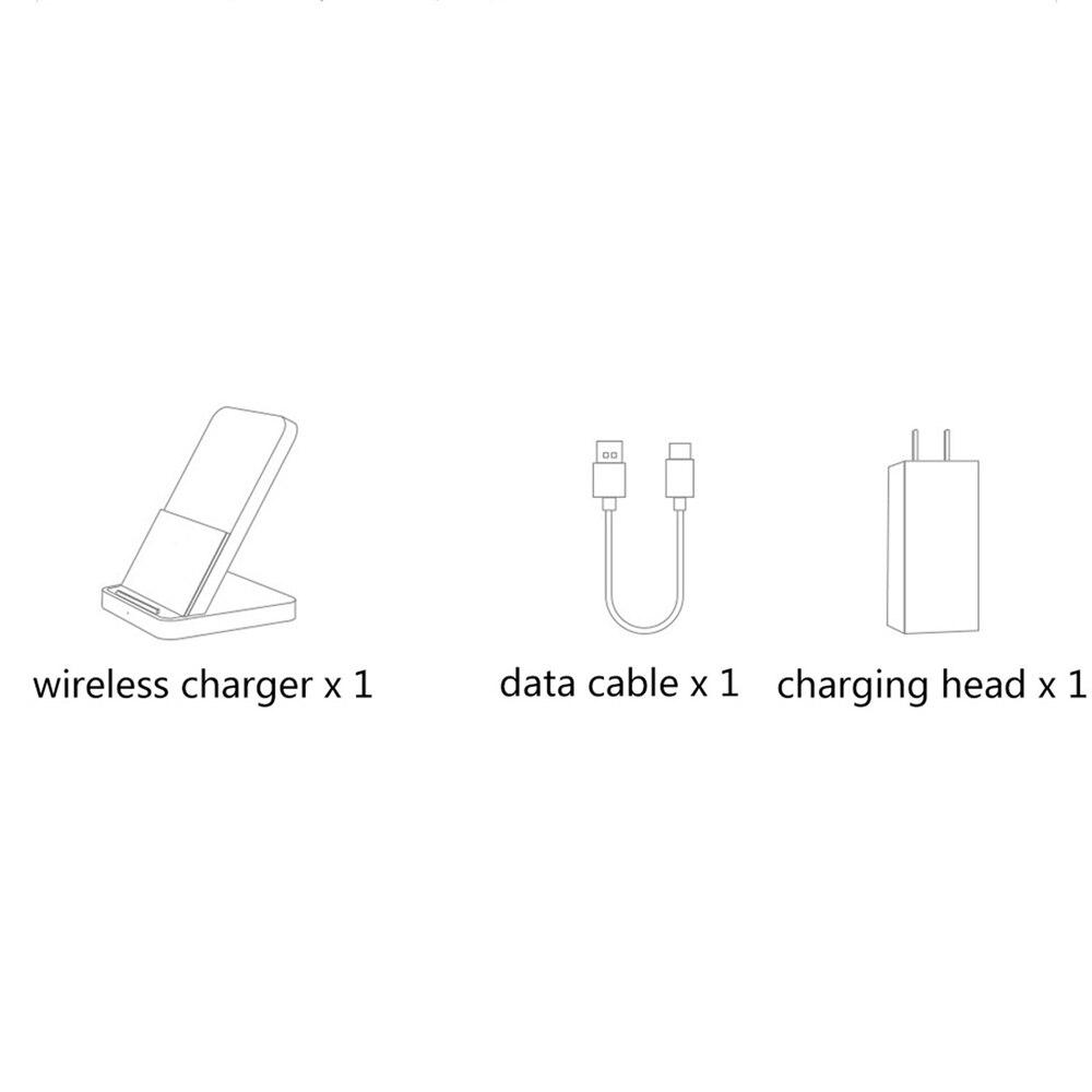 Para xiao mi vertical refrigerado a ar qi carregador sem fio 30 w com suporte MDY 11 EG para xiao mi 9pro 5g para iphone 11 pro max - 6