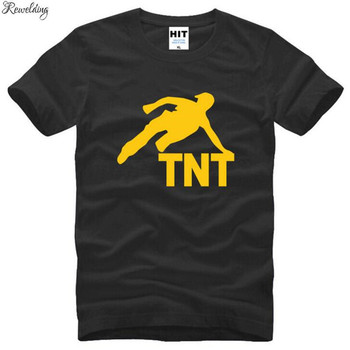 Scamper Diamond Rush jump TNT Parkour Printed T Shirts Men Summer Short Sleeve O-Neck Cotton Men's T Shirt Novelty Mens Top Tee image