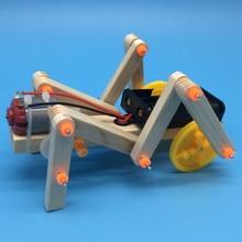 DIY Kit научный эксперимент сканирующий робот паук Электронный Детский развивающий набор стволовых игрушки для изучения физики для детей мал...