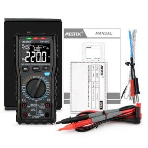 Image 5 - MESTEK multímetro Digital DM100C True RMS, 10000 cuentas con gráfico de barra analógica, amperímetro de voltaje CA/CC, corriente Ohm manual/auto