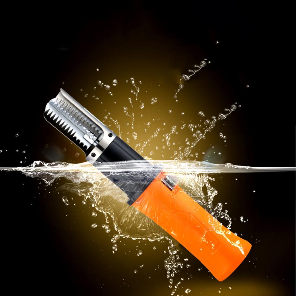 Автоматическая перезаряжаемая литиевая батарея 12 В, скребок из нержавеющей стали для рыбной чешуи, Электрический скалер с батареями (с бата...