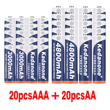 New 1.2V 4800mAh NI MH AA Rechargeable Batteries+AAA Battery 3000 mAh Rechageable Battery NI-MH 1.2 V AAA Battery + Charger