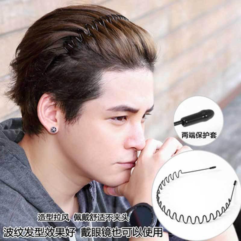 Новая мода Мужская Женская унисекс черная волнистая повязка для волос спортивная повязка для волос аксессуары для волос - Цвет: 4