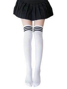 OJBK хлопковые школьные чулки Lolita, гольфы для девочек, очаровательные длинные колготки в стиле аниме, черно-белые, каваи, студенческий косплей...