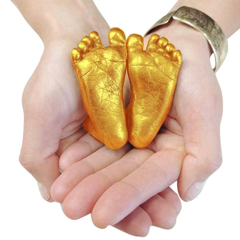Baby 3D Hand Foot Print Mold For Baby Powder Plaster Casting Kit Handprint Footprint Keepsake Gift Baby Growth Memorial Kids