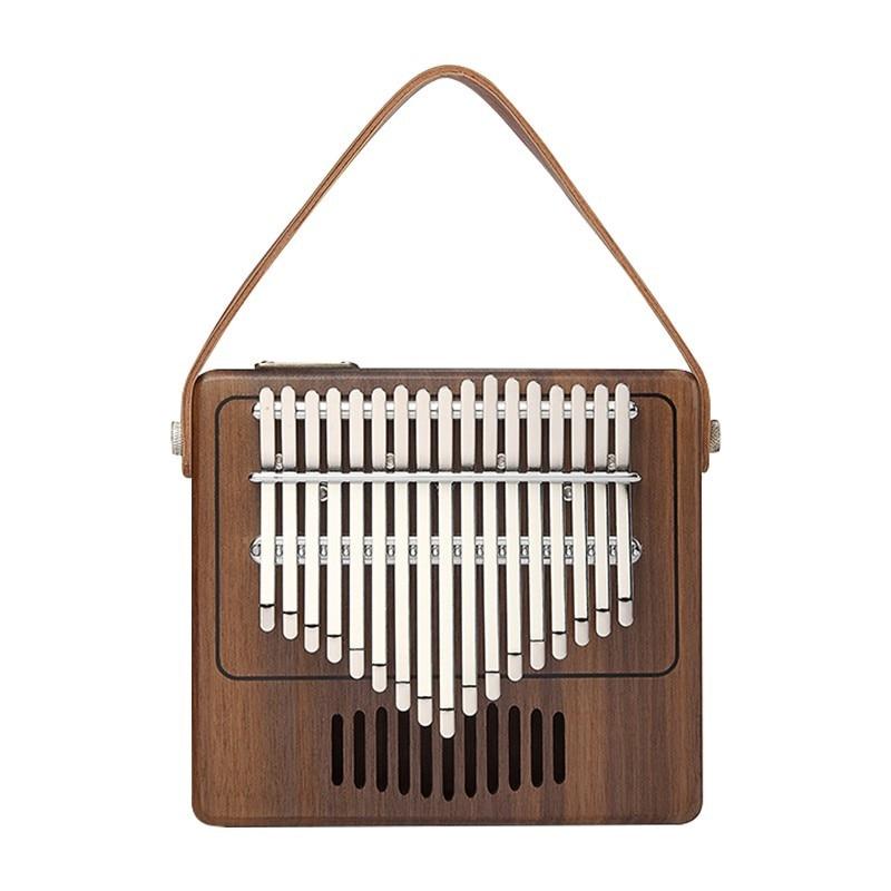17 sleutel Creatieve Kalimba Piano effen Zwarte walnoot hout Kalimba Duim Piano Muziek Gift Student populaire Mooie