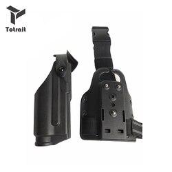 Glock 17 19 22 23 31 32 Pistola Airsoft holster Rechterhand Been Combat Pistool Riem Hunting Shooting Gun Carry holster