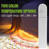 Indoor Ha Condotto La Luce di Striscia USB DC5V IP65 Impermeabile Striscia del Led del Sensore di Movimento del PIR Ha Condotto La Lampada Cabinet Lato del Letto 2835 SMD casa di Illuminazione