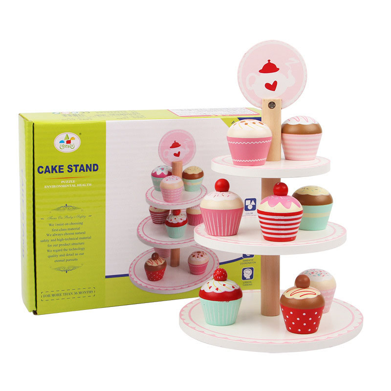Wooden Dessert Kids Cooking Kitchen Toy Food Pretend Play Puzzle Educational Children Toys  Birthday Party Cake Toys