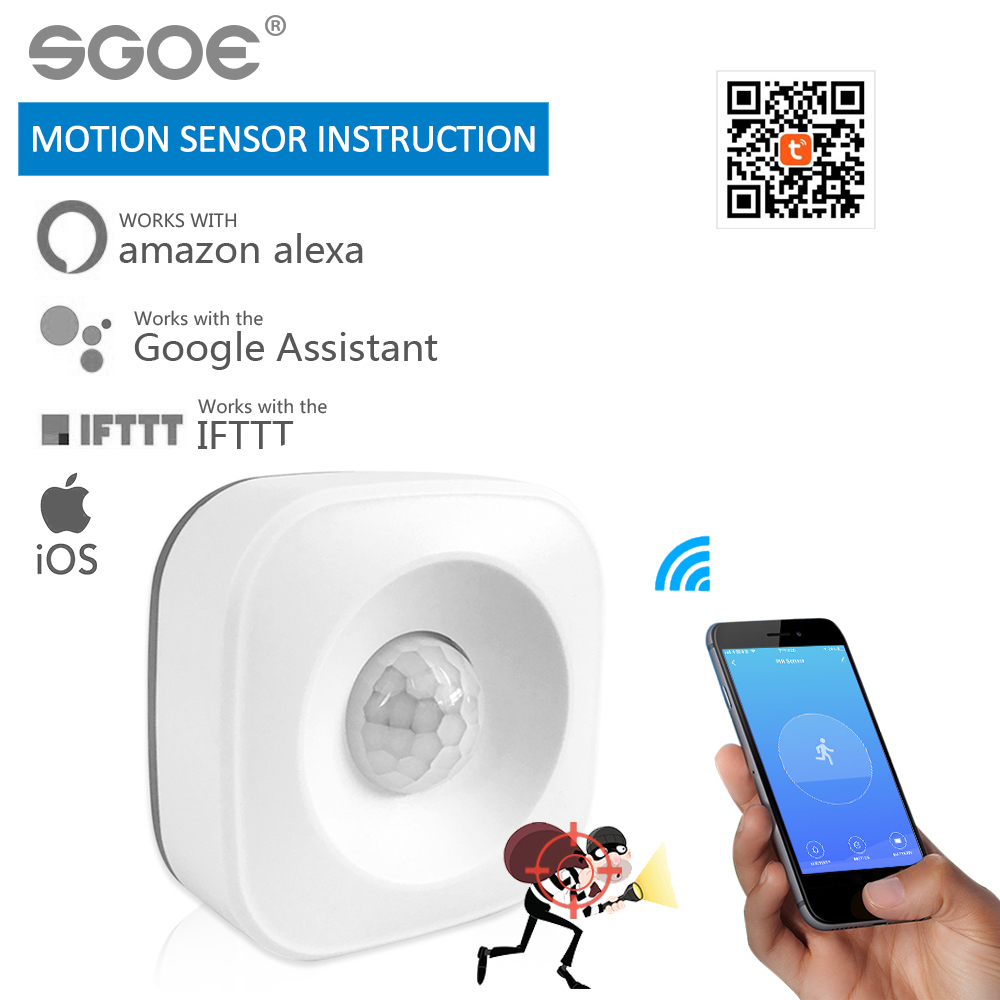 Tuya Smart Home WIFI PIR Motion Sensor Intelligent Wireless Passive Infrared Detector Security Burglar Alarm Sensor Tuya APP NEW