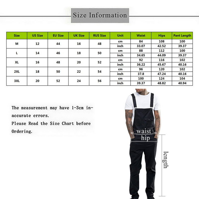 CYSINCOS New Arrival Men's Casual Loose Fit Pants Fashion Solid Color Cargo Bib Overalls Autumn Multi Pocket Trouser Jumpsuit