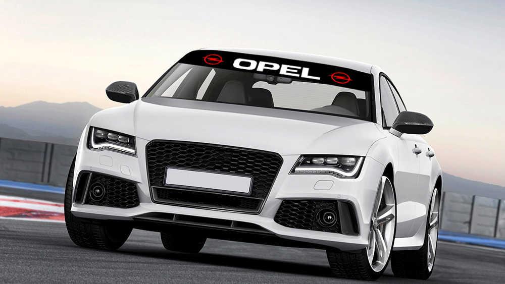 Mobil Styling Stiker Kerai Kaca Depan Banner Decal untuk Opel Astra H G J Corsa Insignia Antara Meriva Zafira aksesoris