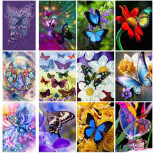 Алмазная 5d картина «сделай сам» с бабочками алмазная вышивка