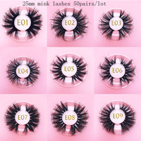 Mikiwi 25mm wholesale false eyelashes 3DREAL MINK luxury lashes custom packing label makeup dramatic long fluffy handmade lashes