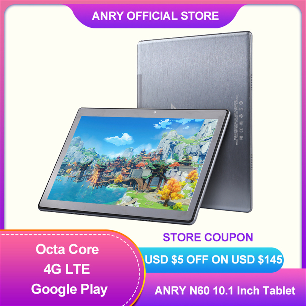2021 Newest Pc Tablet Android 10.0 Google Play Octa Core 4GB RAM 64GB ROM 4G Network Wifi GPS 1920x1200 IPS 10.1 Inch Tablet