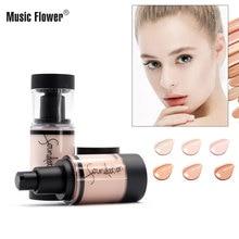 Music Flower long-lasting liquid 6 color soft moisturizing no trace concealer foundation Facial Makeup Concealer Moisturizer
