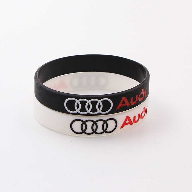 1pcs Car Badge Wristband Silicone Bracelets For Audi A3 A4 A5 A6 A7 A8 Q3 Q4 Q5 Q6 Q7 B8 B6 C6 8p B7 C5 8v B5 Auto Accessories