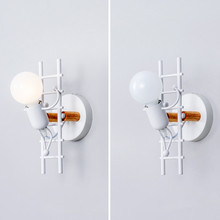 Pasillo Led luz lámpara de pared E27 Vintage Retro desván Industrial estilo Metal arte restaurante café villano escalada ahorro de energía #4