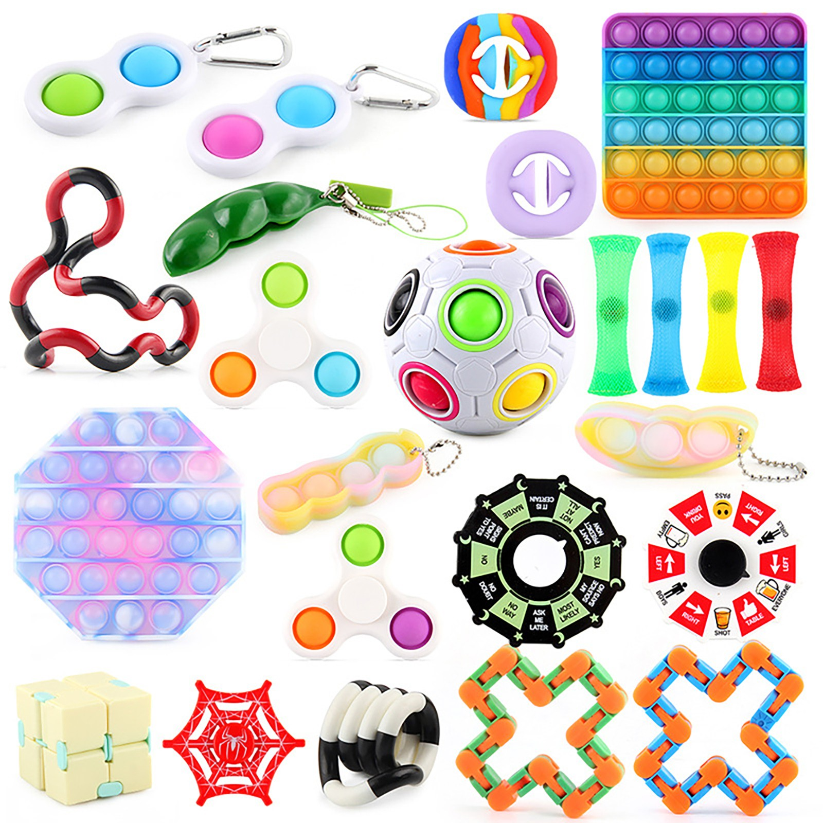 A Pack Fidget Sensory Toy Set Stress Relief Toys Autism Anxiety Relief Stress fidjets img4