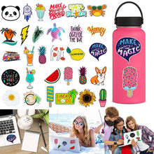 30 Patterns Water Stickers Bottles Cute Waterproof Aesthetic Trendy Stickers For Teens Hot Fashion Laptop Travel Bag Stickers #A(China)