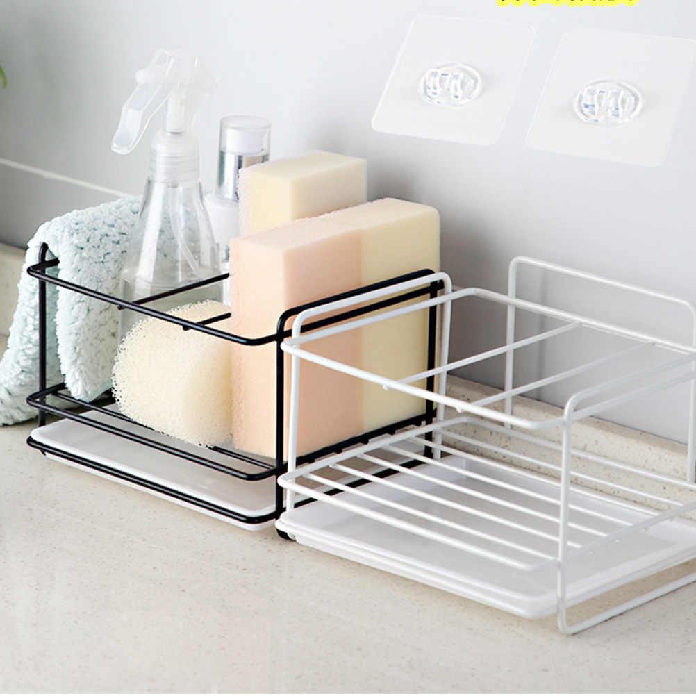Estante de almacenamiento de drenaje ahorro de espacio simplicidad duradera perforadora de fregadero gratis soporte organizador de almacenamiento para cocina de baño A30